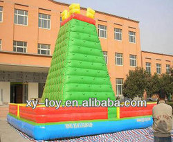 Best selling sports green inflatable climbing mountain/inflatable climbing for sale