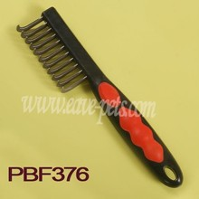 Flea comb wholesale wood pet handle tools for dryer with comb
