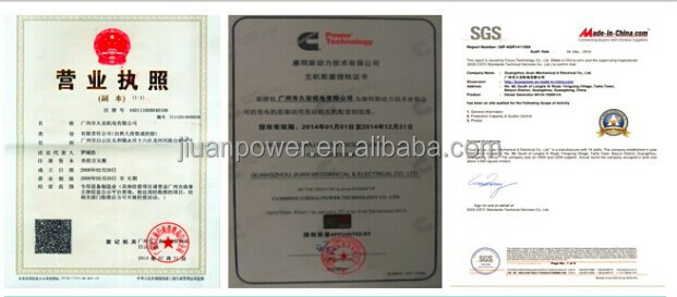 Guangzhou 60KVA with Cummins Engine for Silent Open Electric Power Generator