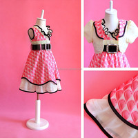 2015 Latest Fancy Baby Girls Cotton Frock Designs for Teenager Girls Small Girls
