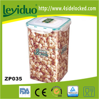 Large plastic airtight clear dried food container