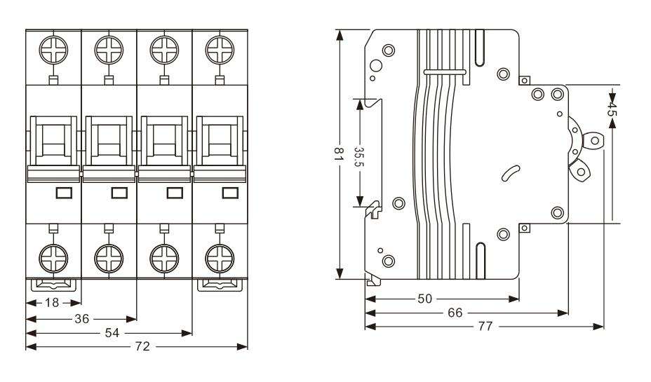 oem supply iec60898 6ka  10ka breaking capacity disjuntores