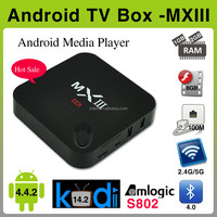 2015 New products MXIII amlogic s802 google android 4.4 tv box