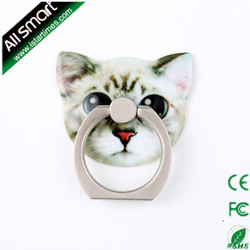 2015 Newest Cat Shape Finger Ring Phone Holder For Mobile Phone With Best Quality and package