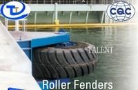 pier swirl tire rubber fender (wheel and roller rubber fender )