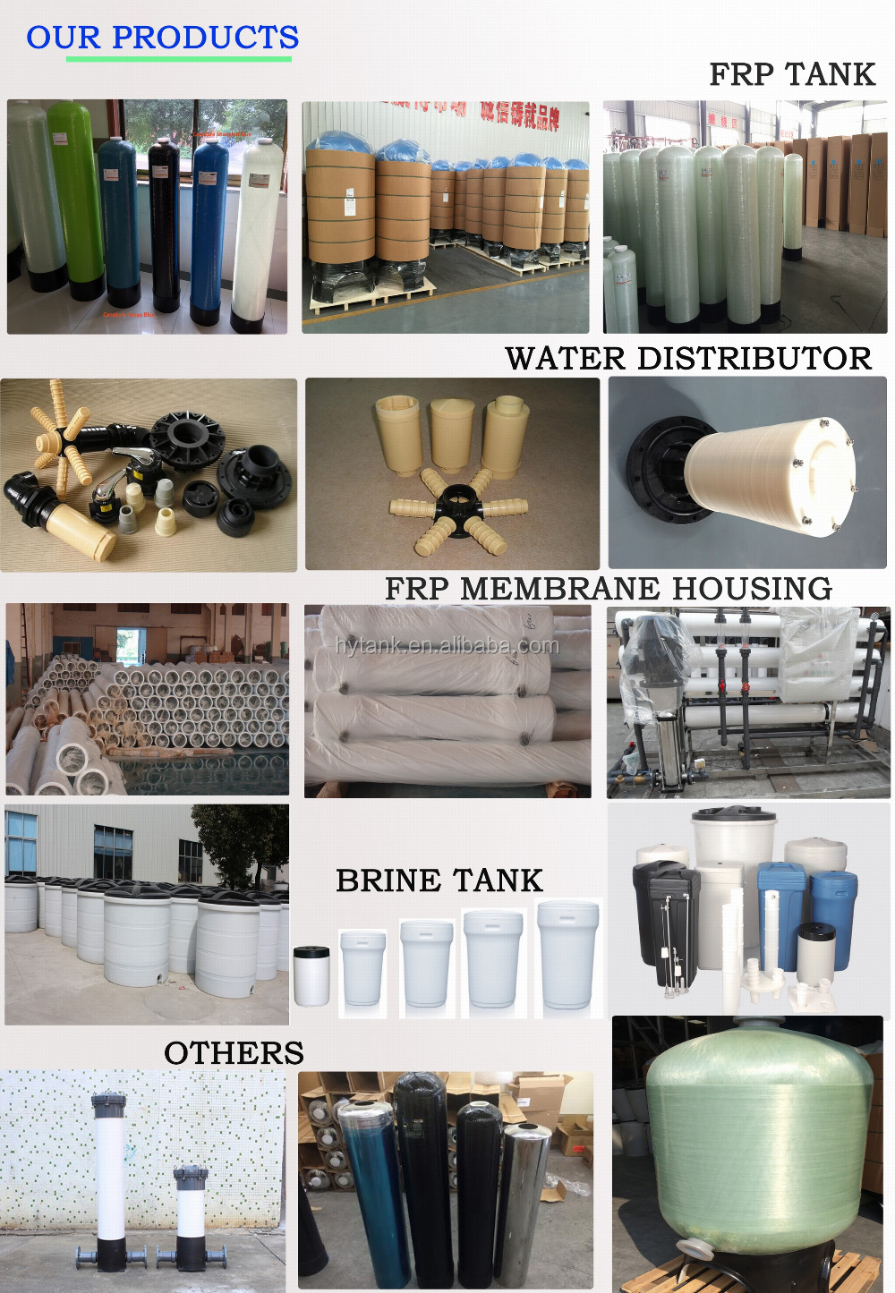 PE Brine Tank for Water Softener 15 to 2000 Liters