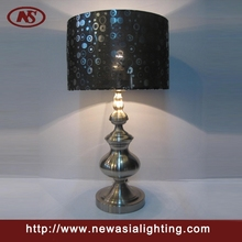 Bubble shade tower body hotel decorative metal table lamp