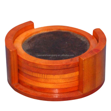 new hot sale wood coaster holder ,Wooden ceramic cup coasters wholesale