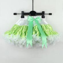 зереные пышные юбки для девочек в горошек