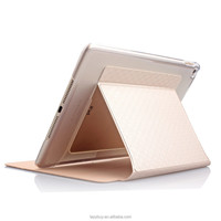 Fancy leather case for ipad 6/air 2 High quality standing PU cover case for ipad 6