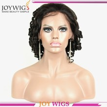 Human hair full lace wig spiral curl nigeria fashon style hair wigs