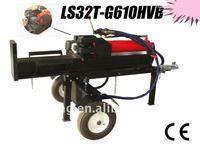 Hydraulic gasoline engine log splitter