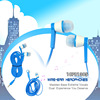 2014 plastic modern shape super bass promotion mp3 headphone