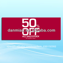 1200mm*450mm 300 gsm artcard del cartel de techo