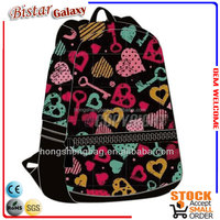 colorful lovely school backpack bag for high school girls 2013