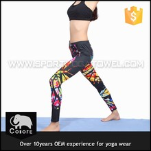 Breathable women printed yoga tank top sublimation fitness clothing