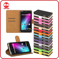Manufacturer Wholesaler Mobile Phone Stand Book Style Wallet Leather Flip Cover Case for Wiko Sunset
