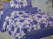 Applique bedding set 3pcs Polyester sheet queen size