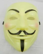 WH-081Yiwu CaddyFashion Hot V for Vendetta Anonymous V vendetta team guy fawkes masquerade Halloween carnival Mask DHL