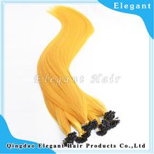 Best Virgin Hair Yellow Nail Hair Extension
