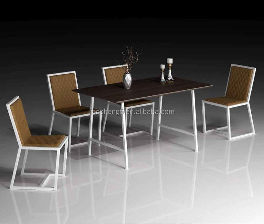식탁 세트 의자 4 금속 레스토랑 가구 식사 테이블 및 의자-세트 ...