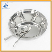 Restaurant cheap wholesale metal dinner plates