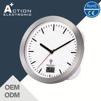 Retail New Arrival Stainless Steel Digital Wall Clock