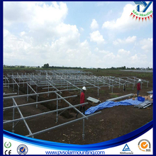Pile Screw base solar mounting structure/solar brackets for commercial solar plant