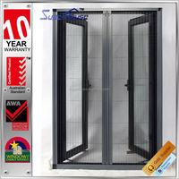Australia AS2047 standard commercial double glass standard casement window sizes outward opening window retractable flyscreen