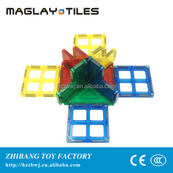 ConnecTiles Magnetic Tile Building Kit Clear Colors 60 Piece Set Kids Toy New
