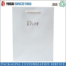White kraft paper bag with logo printed