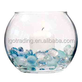 Round glass fish bowl glass candle holders wholesale for Fish bowls in bulk