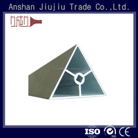Low tool costing diversified alloy triangle aluminum extrusion profile