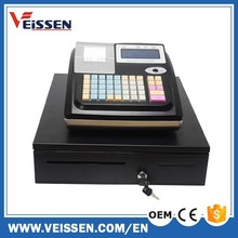 Black color portable cash register with 10000plus and big cash drawer