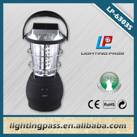 36 LED camping solar led lantern with mobile phone charger