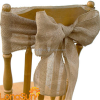 2016 hot sale China burlap chair sash for wedding party hotel wholesale
