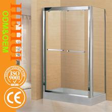 HZ6872 shower enclosure parts custom made offset quadrant 8mm shower door and glass shower enclosure with high quality