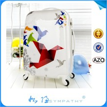 2014 new design abs pc trolley luggage /bag/cabin case abs luggage set