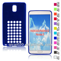 Dot hole color TPU case for Samsung Galaxy Note3/N9000/N9002