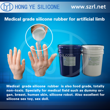 How to use liquid silicone rubber to make human arms and legs?