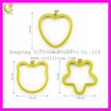 Good helper silicone egg ring with round/heart/star/flower shaped,egg fried rings,pancake silicone cooking rings