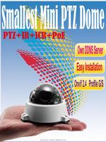 ANC-3420MB 2M 3X Optical Mini PTZ Dome IR Smart focus outdoor mini ptz dome ip camera