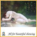 630 g Super algodão fosco mulher bonita abstrata lona pintura a óleo nu