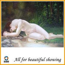 630g Super Cotton Matte abstract beautiful woman nude oil painting canvas