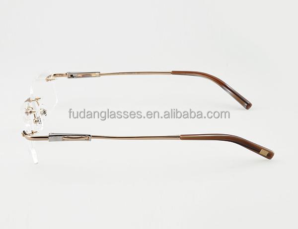 French New Model Eyewear Rimless Eyeglasses Frame 2015 ...
