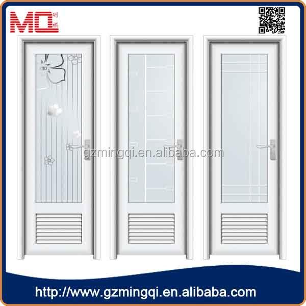 Bathroom Door Frame Design : Upvc frame frosted glass bathroom door design view