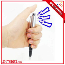 2015 April Fool's Day Electric Shock Metal Pen Adult Joke Gag Prank Novelty Trick Funny Toy Gift Can Write Pen
