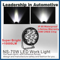 Off Road Led work Lights 70w for 4x4 Accessories jeep 70w Led Work Light