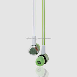 Green Pastel Earphones, Triangle Shape Ear phone for Cellp with Metallic Housing