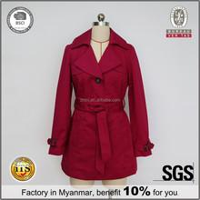 Women Overcoat With Waist-Belt Coat Style Dress